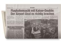 FlughafenNacht mit Kaiser-Double